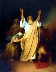 Prayer of Moses Before Israelites Passed Through the Red Sea